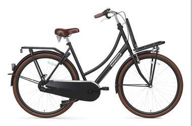 Grote foto daily dutch basic 28 inch omafiets mat zwart fietsen en brommers damesfietsen