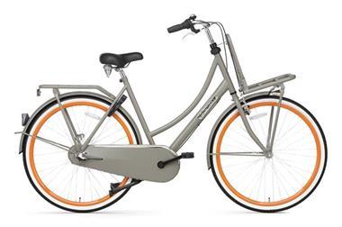Grote foto daily dutch basic 28 inch omafiets grijs oranje fietsen en brommers damesfietsen