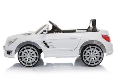 Grote foto mercedes sl63 amg metallic wit spraypaint kinderen en baby los speelgoed