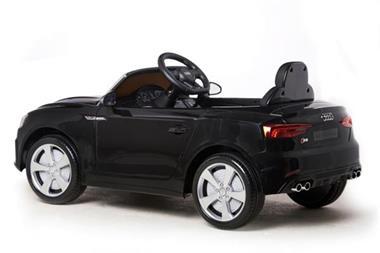 Grote foto audi s5 cabrio metallic zwart 12v kinderen en baby los speelgoed