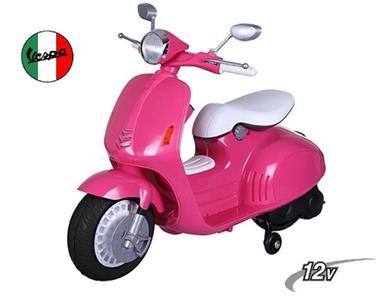 Grote foto vespa scooter roze 12v multimedia kinderen en baby los speelgoed