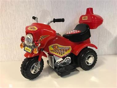 Grote foto politiemotor rood 6v sirene geluidjes kinderen en baby los speelgoed