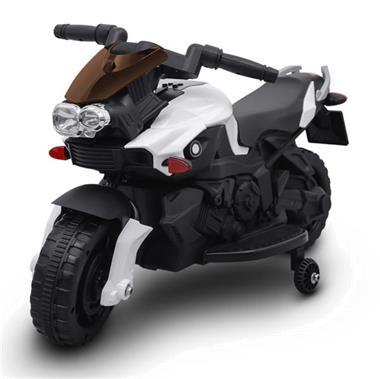 Grote foto motorbike 6v wit lederzit mp3 kinderen en baby los speelgoed