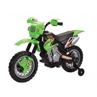 Grote foto kawasaki look crossmotor 6v groen kinderen en baby los speelgoed