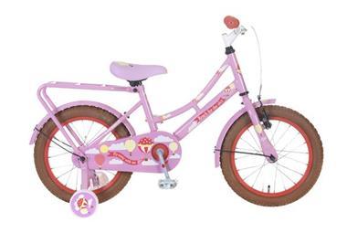 Grote foto omafiets sky is the limit 16 inch roze fietsen en brommers kinderfietsen