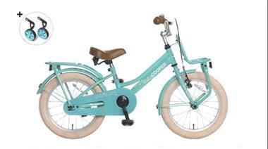 Grote foto cooper 16 inch meisjesfiets turquoise fietsen en brommers kinderfietsen