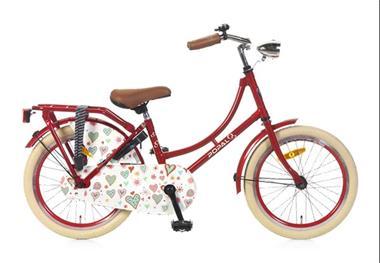 Grote foto omafiets 18 inch rood fietsen en brommers kinderfietsen