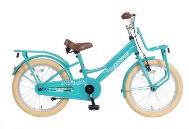 Grote foto cooper meisjesfiets 18 inch turquoise voorrek fietsen en brommers kinderfietsen