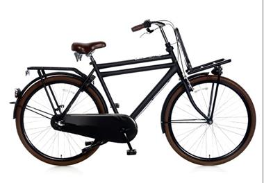 Grote foto daily dutch basic 28 inch transportfiets mat zwart fietsen en brommers herenfietsen