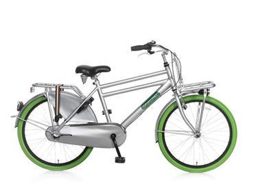 Grote foto daily dutch basic 24 inch jongensfiets groen grijs fietsen en brommers kinderfietsen