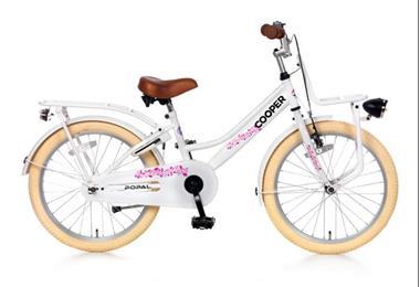 Grote foto cooper meisjesfiets 20 inch voorrek wit fietsen en brommers kinderfietsen
