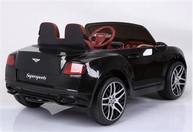Grote foto bentley continental supersports metallic zwart leder veri kinderen en baby los speelgoed