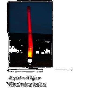 Grote foto te huur skytube skydancer met tekst 25 18 40 hobby en vrije tijd feestartikelen verhuur