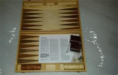 Grote foto de luxe backgammonset 18 hobby en vrije tijd gezelschapsspellen bordspellen