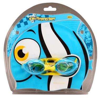 Grote foto waimea zwemmuts vis met zwembril junior lichtblauw kinderen en baby los speelgoed