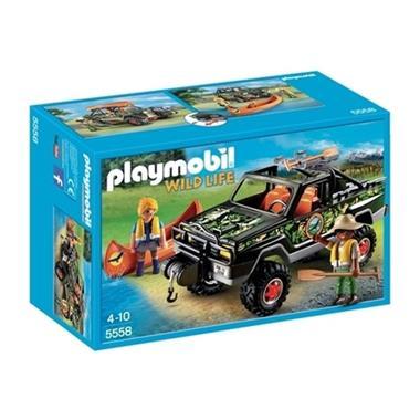 Grote foto playmobil 5558 wildlife pickuptruck kinderen en baby duplo en lego
