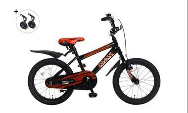 Grote foto max 16 inch jongensfiets rood fietsen en brommers kinderfietsen
