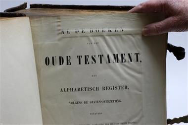 Grote foto bijbel uit vorige eeuw boeken religie