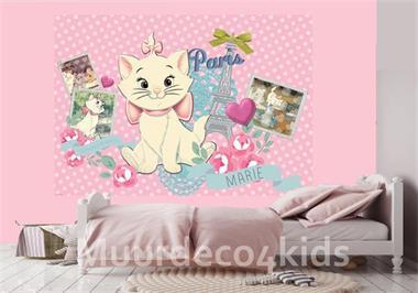 Grote foto disney marie fotobehang aristocats vlies behang kinderen en baby inrichting en decoratie
