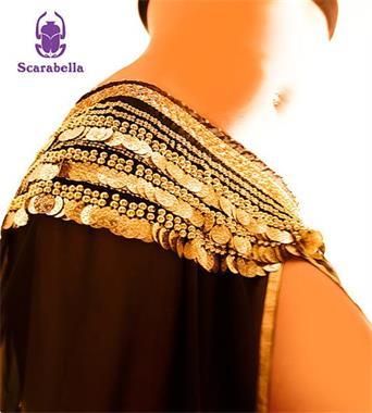Grote foto scarabella heupsjaal munten rokje riem belt buik kleding dames carnavalskleding en feestkleding