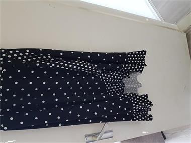 Grote foto zwarte jurk met witte stippen maat xl kleding dames jurken en rokken