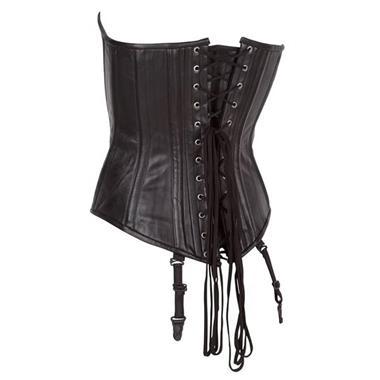 Grote foto echt leren corset model 10 zwart in xs t m 10xl kleding dames grote maten