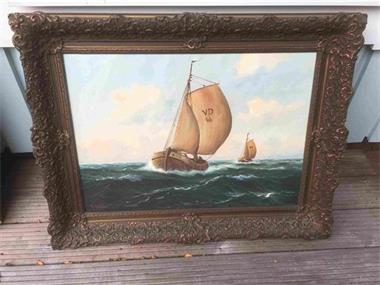 Grote foto olieverf schilderij a. gobolt antiek en kunst klassiek