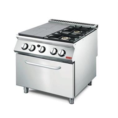 Grote foto gastrom platen fornuis met 2 branders en gas oven 700 lijn diversen overige diversen