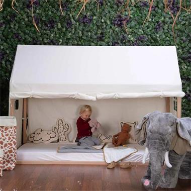 Grote foto childhome bedframehoes 210x100x150 cm wit kinderen en baby complete kinderkamers