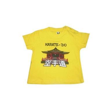 Grote foto baby t shirt karate. tempel 6m sport en fitness vechtsporten en zelfverdediging