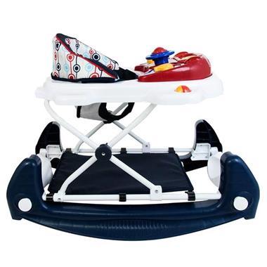 Grote foto loopstoeltje met schommelfunctie walker retro red kinderen en baby babyspeelgoed