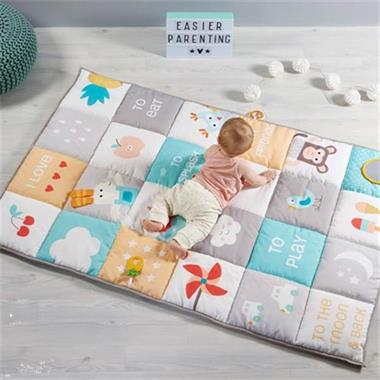 Grote foto i love big mat soft colours speelmat kinderen en baby babyspeelgoed