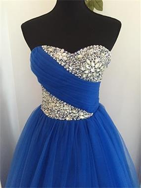 Grote foto opruiming royalblauwe prinsessenjurk mt 32 t m 40 kleding dames trouwkleding