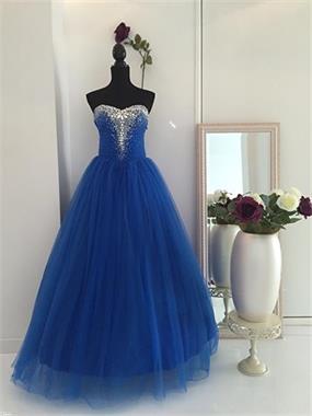 Grote foto royalblauwe trouwjurk maat 32 t m 42 kleding dames trouwkleding