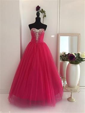 Grote foto donkerroze trouwjurk maat 32 t m 42 kleding dames trouwkleding