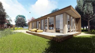 Grote foto lounger flevohome luxe chalet va. 49.900 caravans en kamperen stacaravans