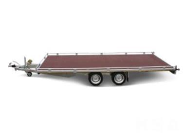Grote foto eduard plateau606 x 220 3000 kg open aanhangwagen auto diversen aanhangers