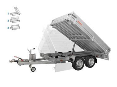 Grote foto anssems ksx 2500 hand 305 x 178 2500 kg aanhangwagen kippe auto diversen aanhangers