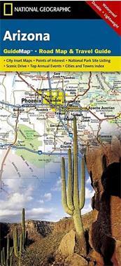 Grote foto wegenkaart landkaart arizona state guidemap national geo boeken atlassen en landkaarten