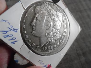 Grote foto misslag morgan dollar 1884 o postzegels en munten amerika