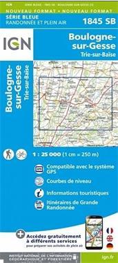 Grote foto topografische wandelkaart van frankrijk 1845sb boulogne su boeken atlassen en landkaarten