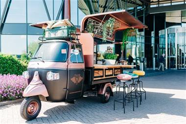 Grote foto mobiele koffiebar hoogvliet koffiebar op locatie diensten en vakmensen restaurants en cateraars