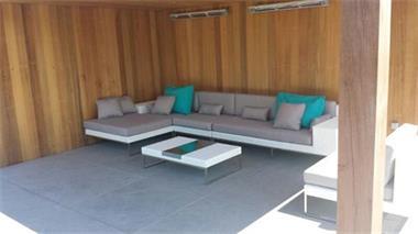 Grote foto design loungeset tuin wit wicker tuin en terras tuinmeubelen toebehoren