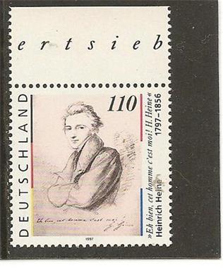 Grote foto heinrich heine verzamelen postzegels duitsland