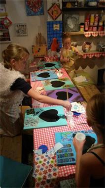 Grote foto kreactief creatieve workshop bonbons maken diensten en vakmensen kinderen