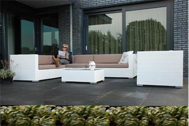 Grote foto loungeset arbrini wit wicker slechts 1295 tuin en terras tuinmeubelen