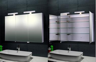 Grote foto spiegelkasten ledspiegels 3d spiegels huis en inrichting complete badkamers