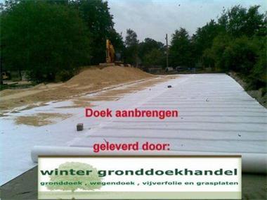 Grote foto anti worteldoek gronddoek geotextiel tuin en terras kunstgras