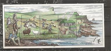 Grote foto blok vikingen foroyar verzamelen postzegels overige
