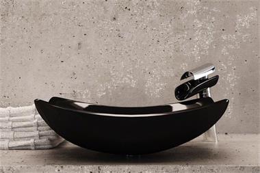 Hoge watervalkraan met bijpassende waskom kopen complete for Waskom kraan hoog